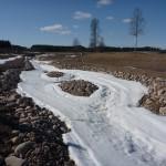Öarna håller fortfarande mycket snö.